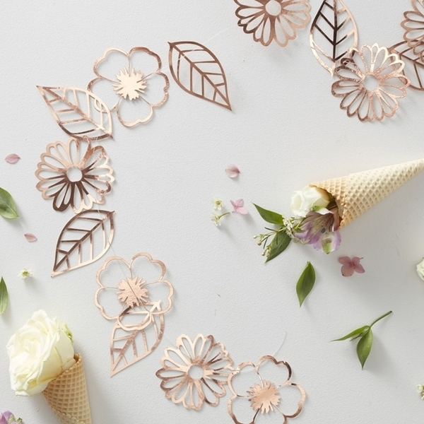 Picture of Rose Gold Foiled Flower Garland