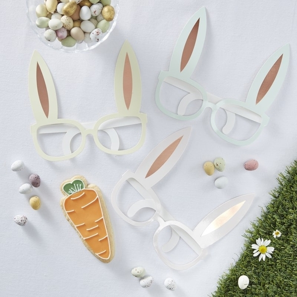 Picture of Rose Gold Foiled Fun Glasses - Bunny Ears