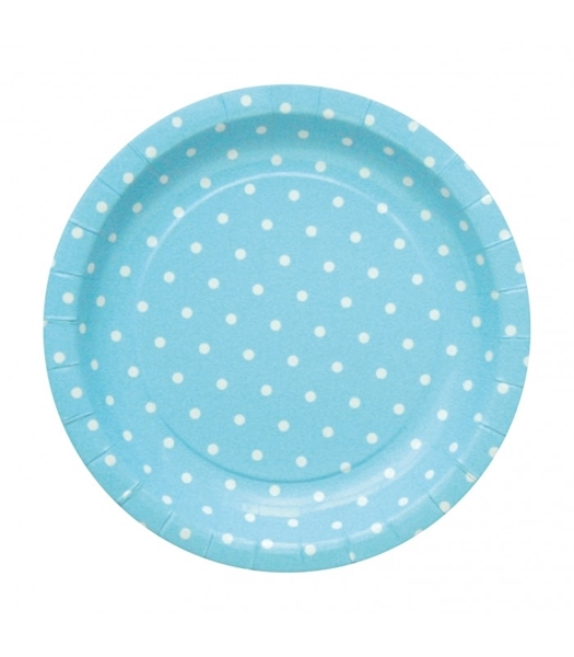 Picture of Plates blue polka dots (20cm.)