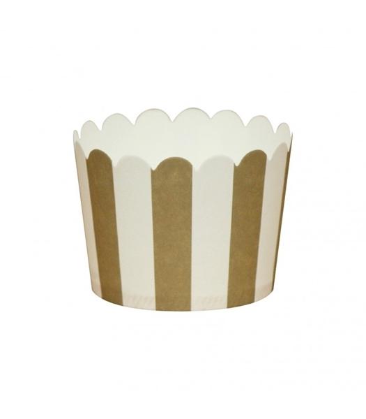 Θήκες για cupcakes ριγέ χρυσό