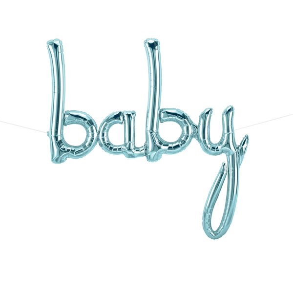 Picture of Foil Balloons Kit BABY pastel blue