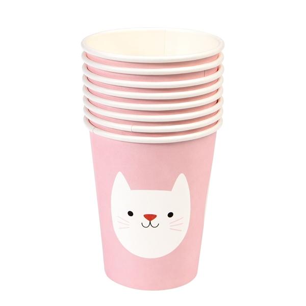 Χάρτινα ποτήρια - Ροζ Γατούλα