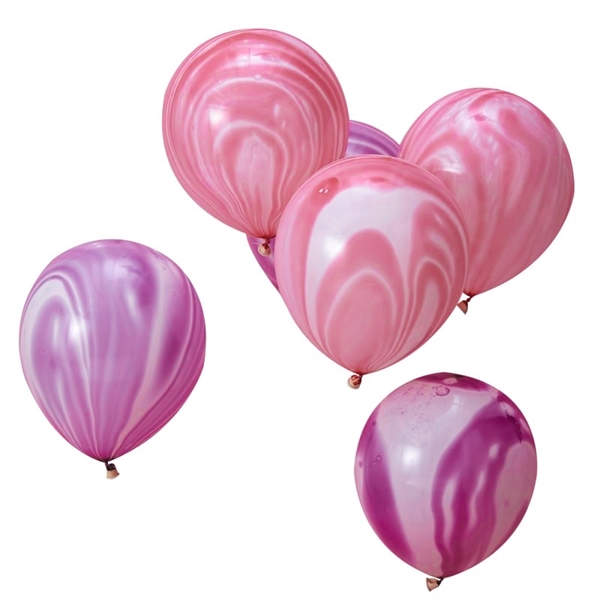 Picture of Pink and Purple Marble Balloons