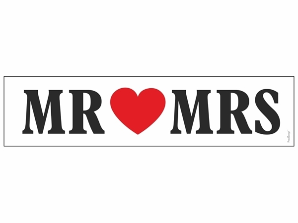 Πινακίδα αυτοκινήτου-Mr & Mrs