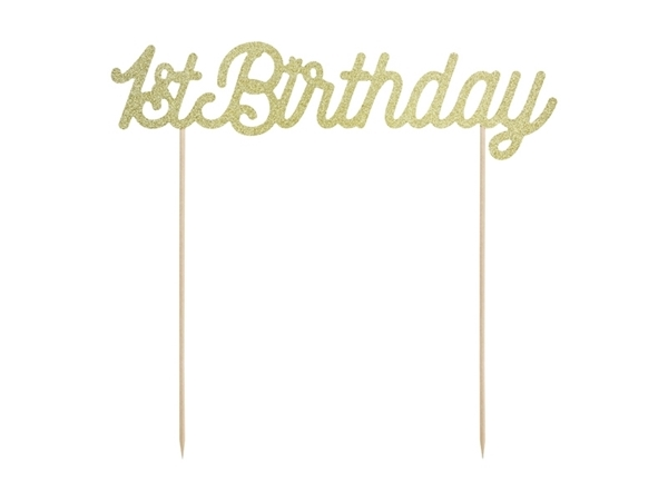 Picture of Cake topper - 1st Birthday, gold