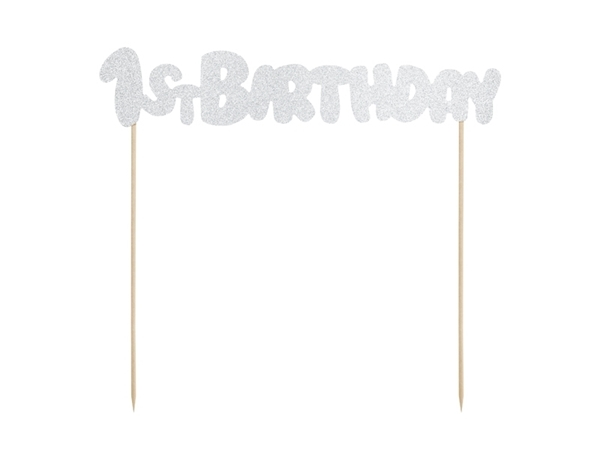 Picture of Cake topper-1st Birthday, silver