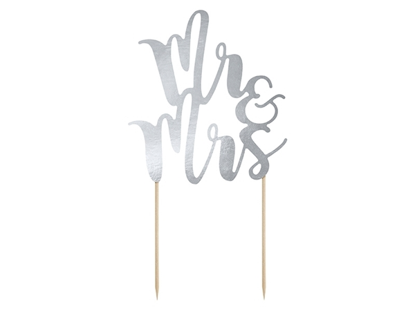 Picture of Cake topper- Mr&Mrs silver