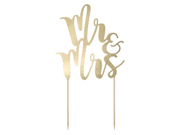 Picture of Cake topper - Mr&Mrs gold