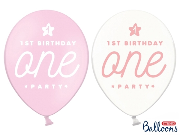 Picture of Balloons- One party pink