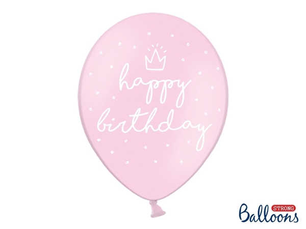 Picture of Balloons Happy Birthday Pink (6pc.)