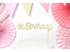Picture of Cake topper-1st Birthday, gold