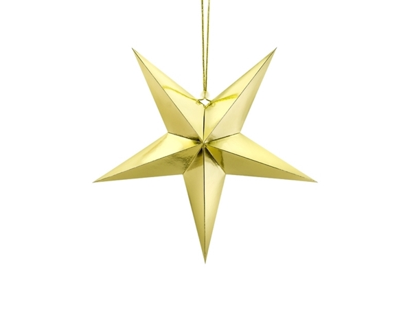 Picture of Paper star gold (45cm)