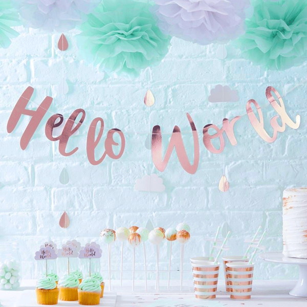 Picture of Rose Gold Bunting - Hello World