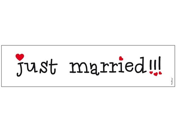 Πινακίδα αυτοκινήτου - Just Married