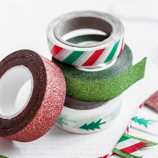 Picture of Decorative paper tape- Red and green