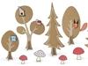 Σετ διακόσμησης- Woodland