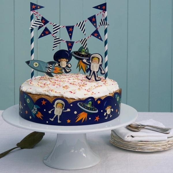 Σετ διακόσμησης για τούρτα - Διάστημα