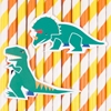 Χάρτινα Καλαμάκια-Δεινόσαυροι (12τμχ)