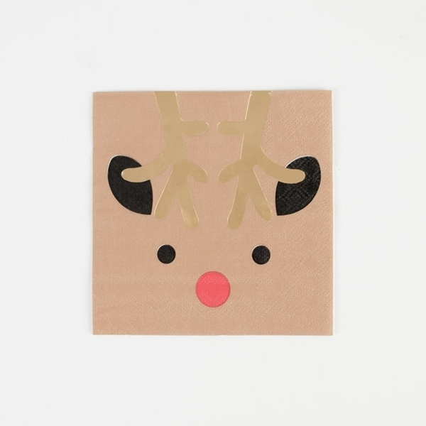 Picture of Napkins - Mini reindeers