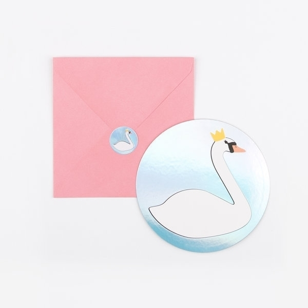 Picture of Party invitations-Swan