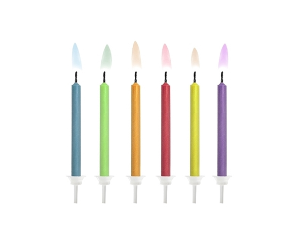 Picture of Birthday candles Coloured Flames