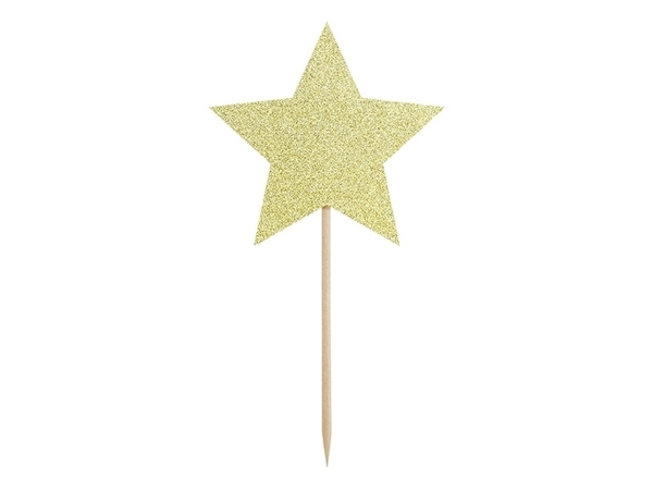 Picture of Cupcake toppers - Stars, gold
