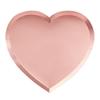 Χάρτινα πιάτα σε σχήμα καρδιάς