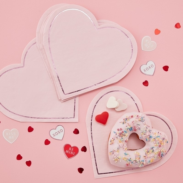 Χαρτοπετσέτες σε σχήμα καρδιάς