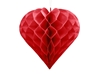Picture of Honeycomb Heart, red, 30cm