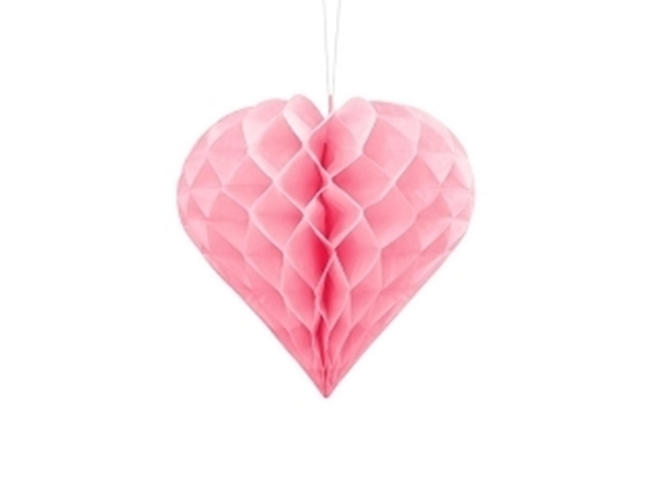 Picture of Honeycomb Heart, light pink, 20cm