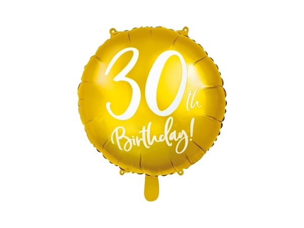 Picture of Gold Foil Balloon 30th Birthday!