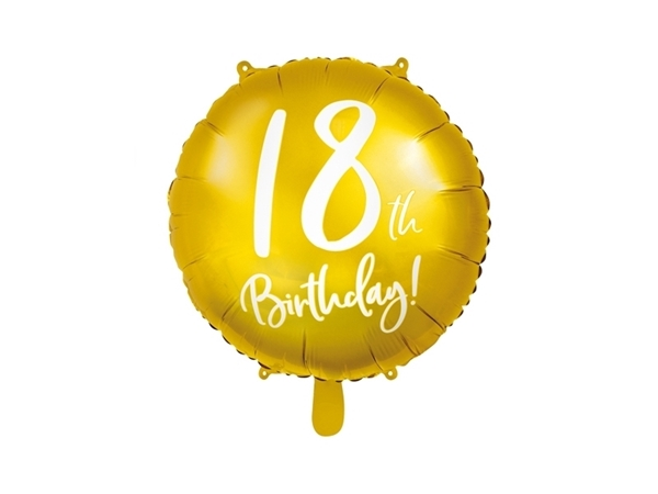Picture of Gold Foil Balloon 18th Birthday!