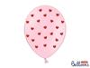 Μπαλόνια ροζ με κόκκινες καρδιές (σετ 6)