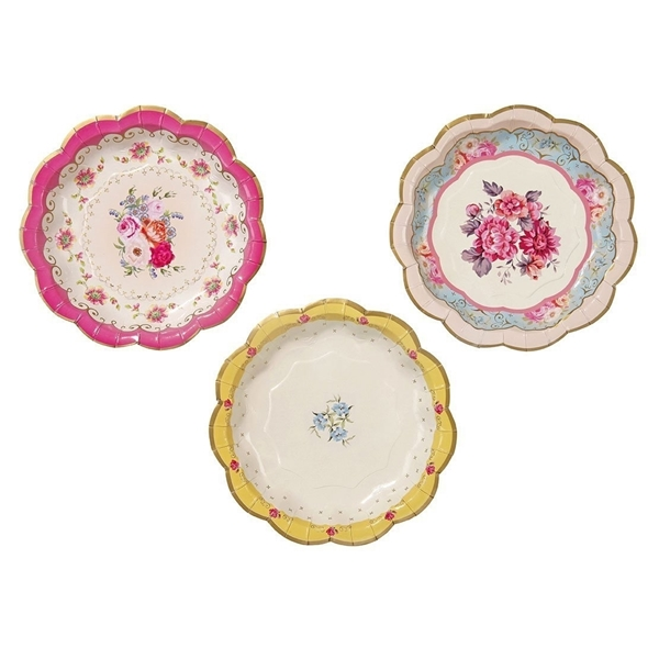 Picture of Tea time Paper Plates pastel
