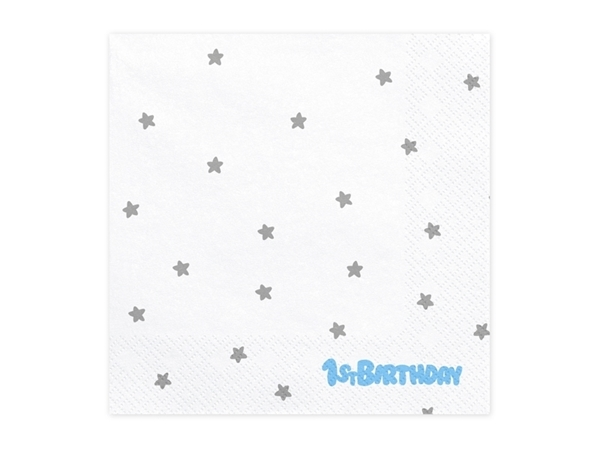 Picture of Paper napkins- 1st Birthday blue