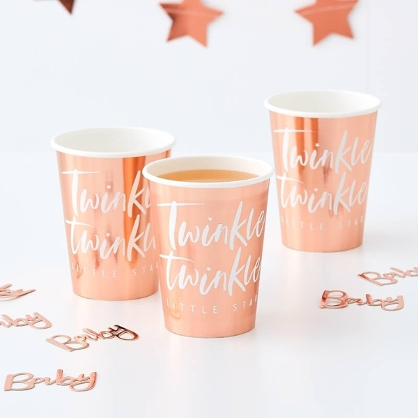 Picture of Rose gold foiled paper cups-Twinkle twinkle