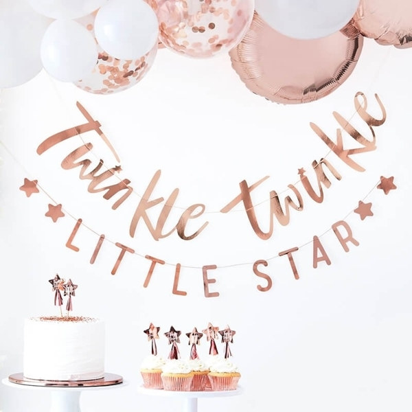 Picture of Rose gold twinkle twinkle bunting