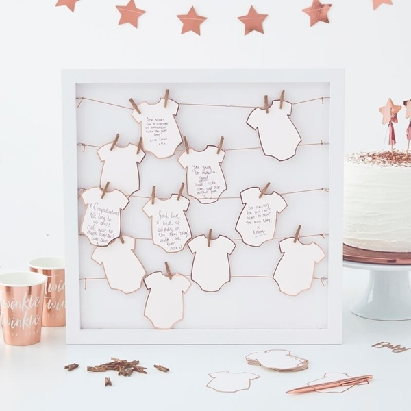 Picture of Alternative baby grow frame guest book - Twinkle twinkle