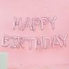 Μπαλόνια σετ HAPPY BIRTHDAY παστέλ ροζ
