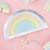 Picture of Paper Plate - Pastel Rainbow