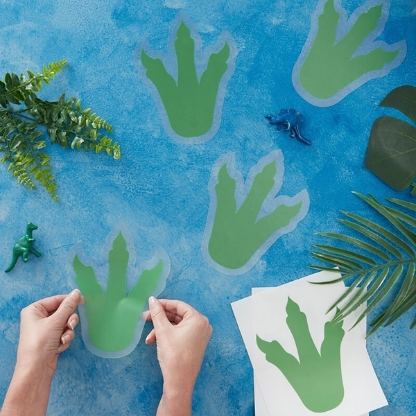 Picture of Foot Print Sticker - Dinosaur