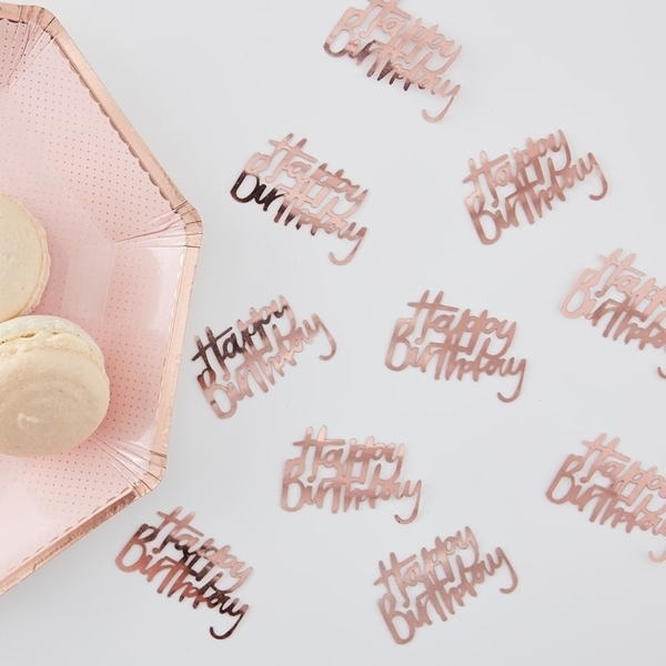 Picture of Rose Gold Table Confetti - Happy Birthday