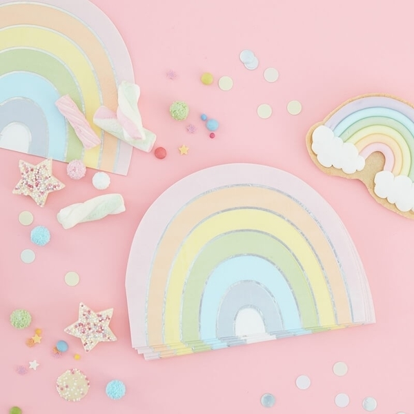 Picture of Paper napkins - Pastel Rainbow