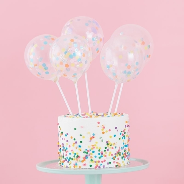 Picture of Mini cake topper confetti balloons kit