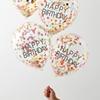 Picture of Happy birthday confetti rainbow balloons