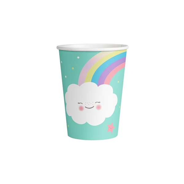 Picture of Paper cups - Cloud and rainbow