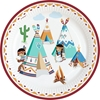 Picture of Paper plates (23cm) - Little Indians