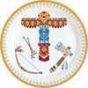 Picture of Paper plates (18cm) - Little Indians