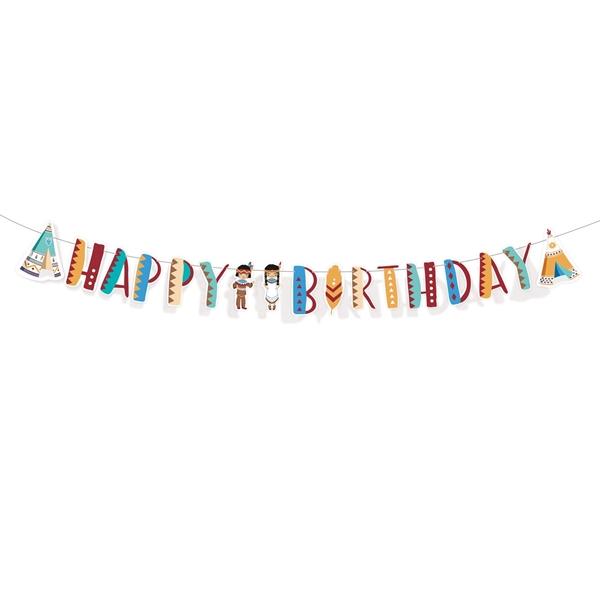 Γιρλάντα Happy Birthday - Μικροί Ινδιάνοι