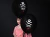 Σετ μπαλόνια - Πειρατής (μαύρα)